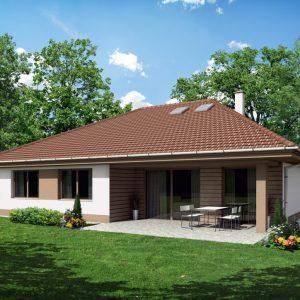 Drevostavba s valbovou strechou a garážou | woodhouse.cz