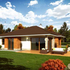 Jednopodlažný nízkoenergetický dom | woodhouse.sk