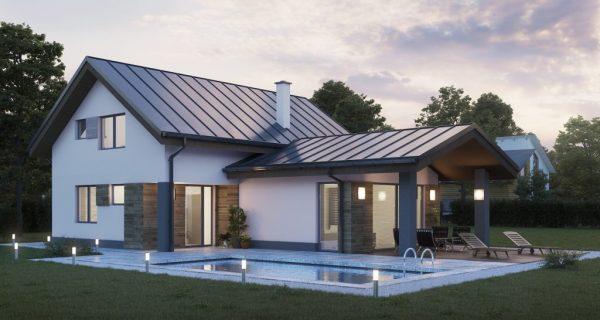Pasívny dom so sedlovou strechou | woodhouse.sk