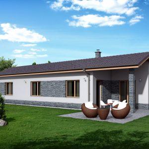 Úzky nízkoenergetický dom | katalóg projektov