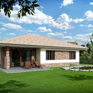 Drevodom s valbovou strechou | pasívne a nízkoenergetické domy