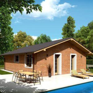 Drevodom so sedlovou strechou | katalóg projektov | woodhouse.sk