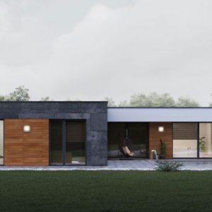 Moderný bungalov s plochou strechou na kľúč | woodhouse.sk