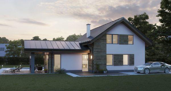Pasívny dom so sedlovou strechou | katalóg drevostavieb