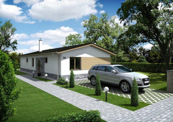 Bungalov pre 4 – člennú rodinu | katalóg projektov | woodhouse.sk