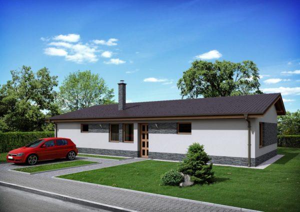 Jednopodlažný úzky nízkoenergetický dom | katalóg projektov