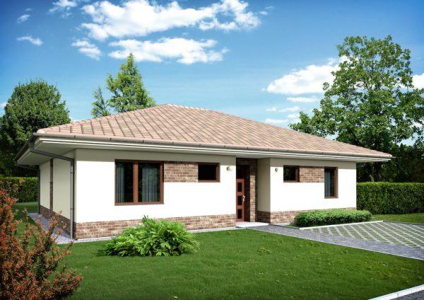 Bungalov s valbovou strechou | pasívne a nízkoenergetické domy
