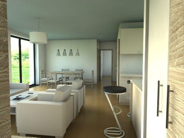 Moderná drevostavba pre 4-člennú rodinu | interiér