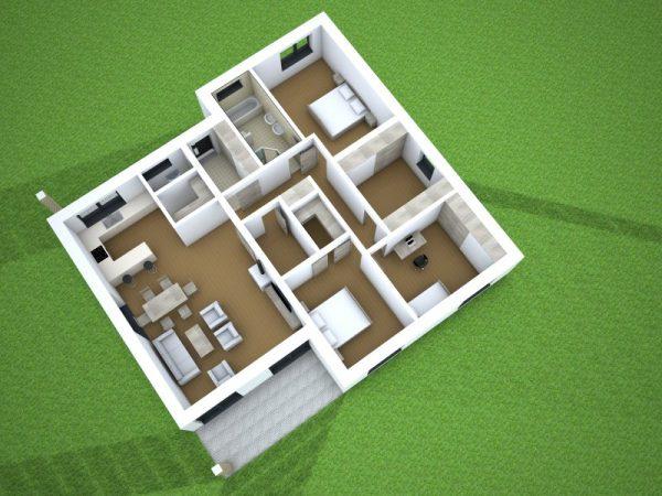 Moderný bungalov s valbovou strechou   katalóg projektov