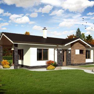 Bungalov s valbovou strechou | woodhouse.sk