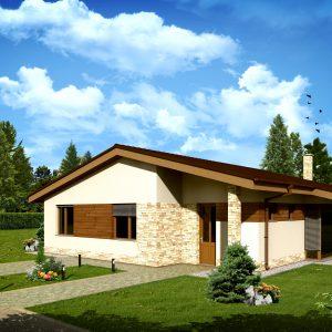 Bungalov so sedlovou strechou   drevostavby a nízkoenergetické domy