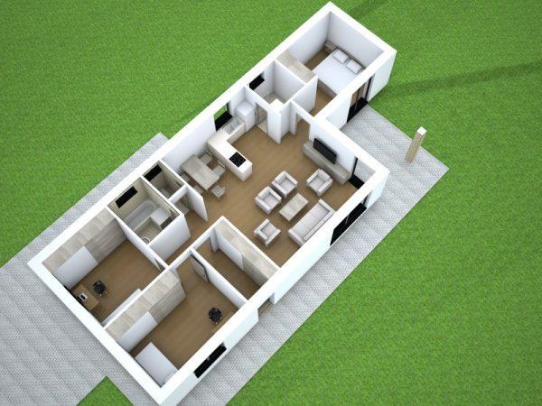 Drevostavba so sedlovou strechou | katalóg projektov | woodhouse.sk