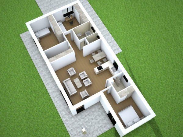 Bungalov so sedlovou strechou | katalóg projektov | woodhouse.sk
