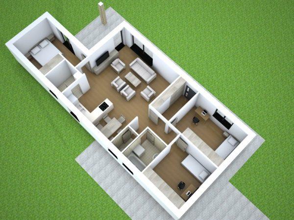 Bungalov pôdorys | katalóg projektov | woodhouse.sk